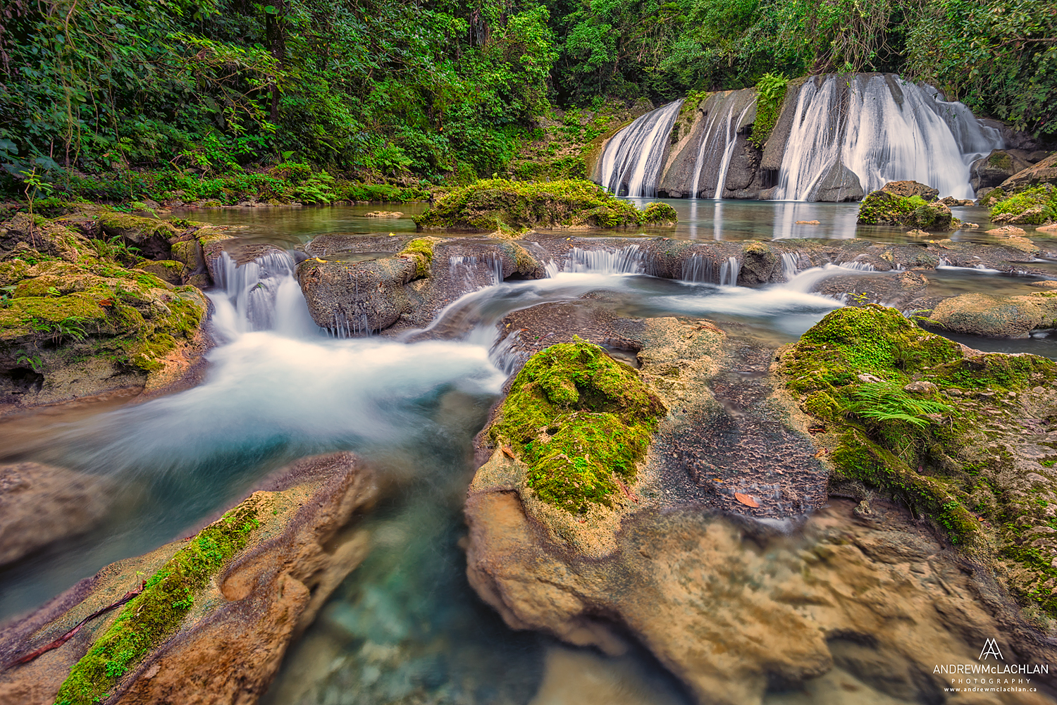Reich Falls on the Drivers River in the John Crow Mountains, Jamaica