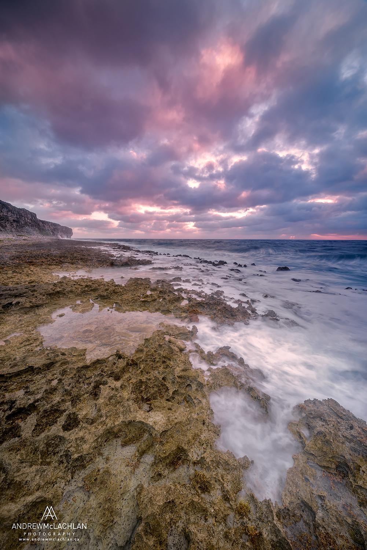 Sunrise on Pollar Bay on Cayman Brac, British West Indies