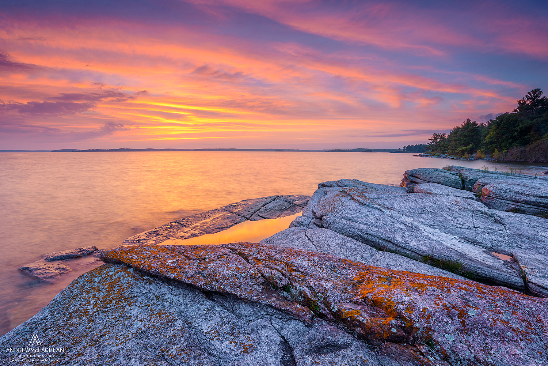 Sunset on Georgian Bay, Parry SOund, Ontario, Canada