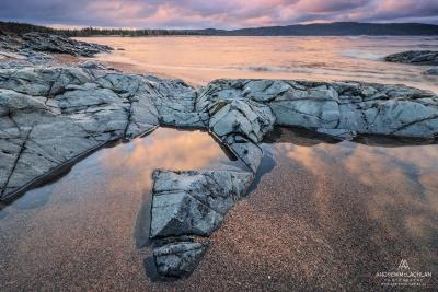 Sunrise on Lake Superior near Wawa, Ontario, Canada