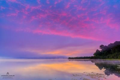 Sunrise on Lake Travers, Algonquin Provincial Park, Ontario, Canada