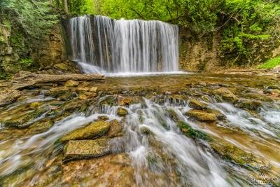 Hoggs Falls on the Boyne River along the Niagara Escarpment in the Beaver Valley, Flesherton, Ontario, Canada
