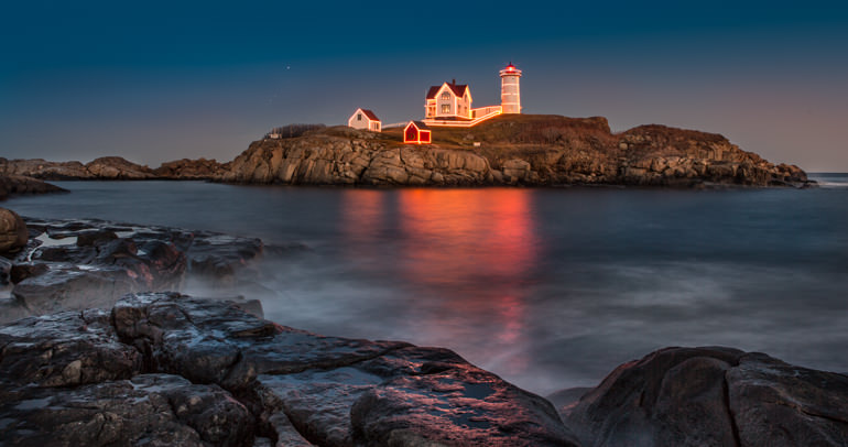 Nubble Light at the Holidays