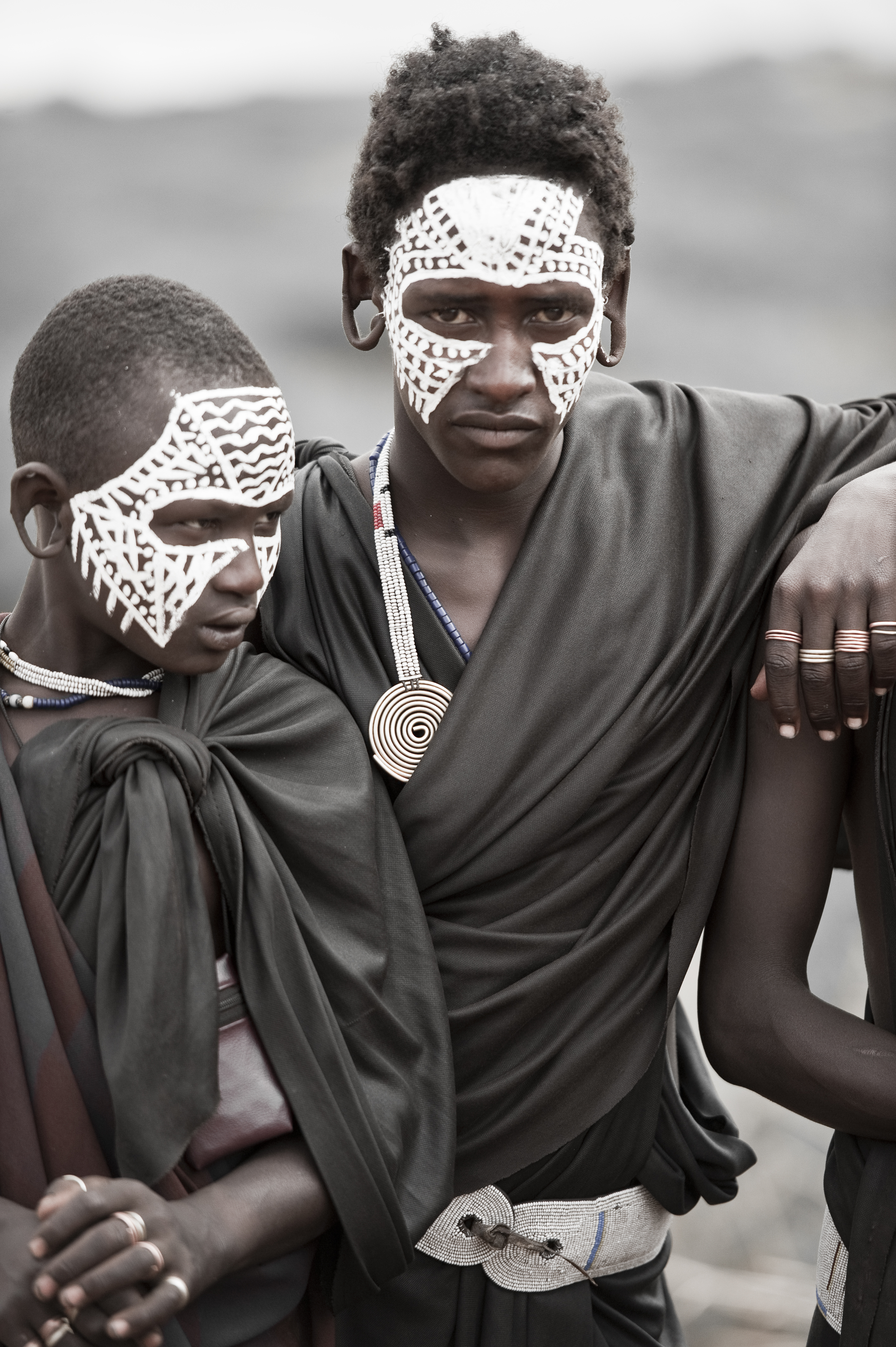 Young Masai Warrior, Toned