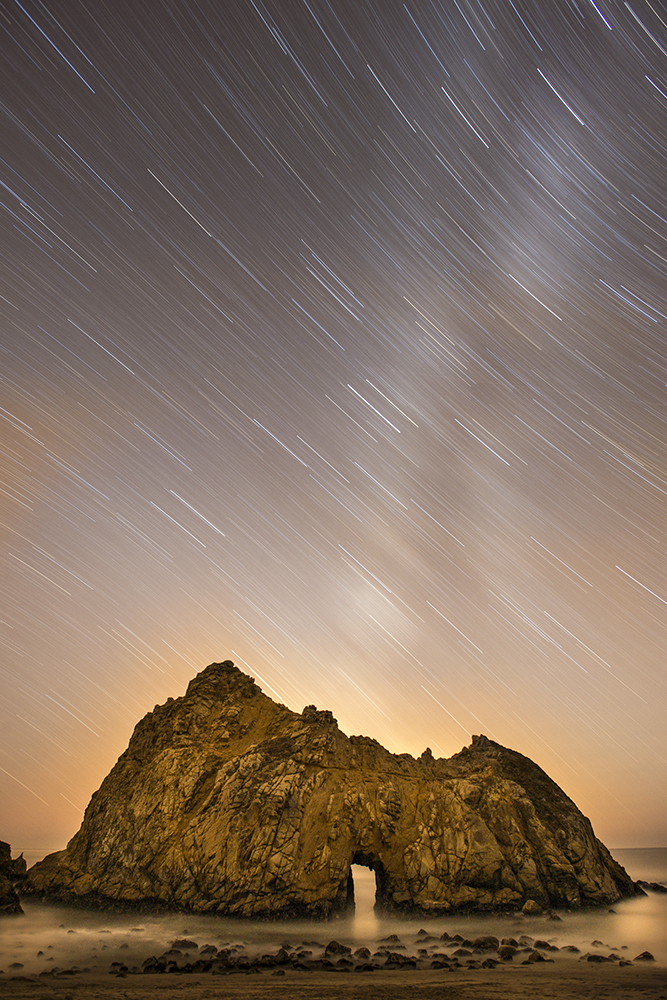 Star Trails at Pfieffer Beach