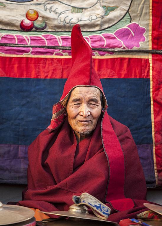 Monk at Tiji Festival
