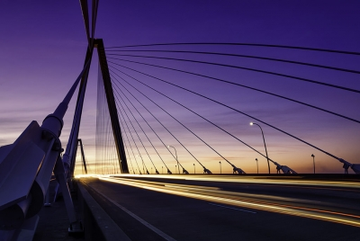 Ravenel Bridge Traffic Twilight