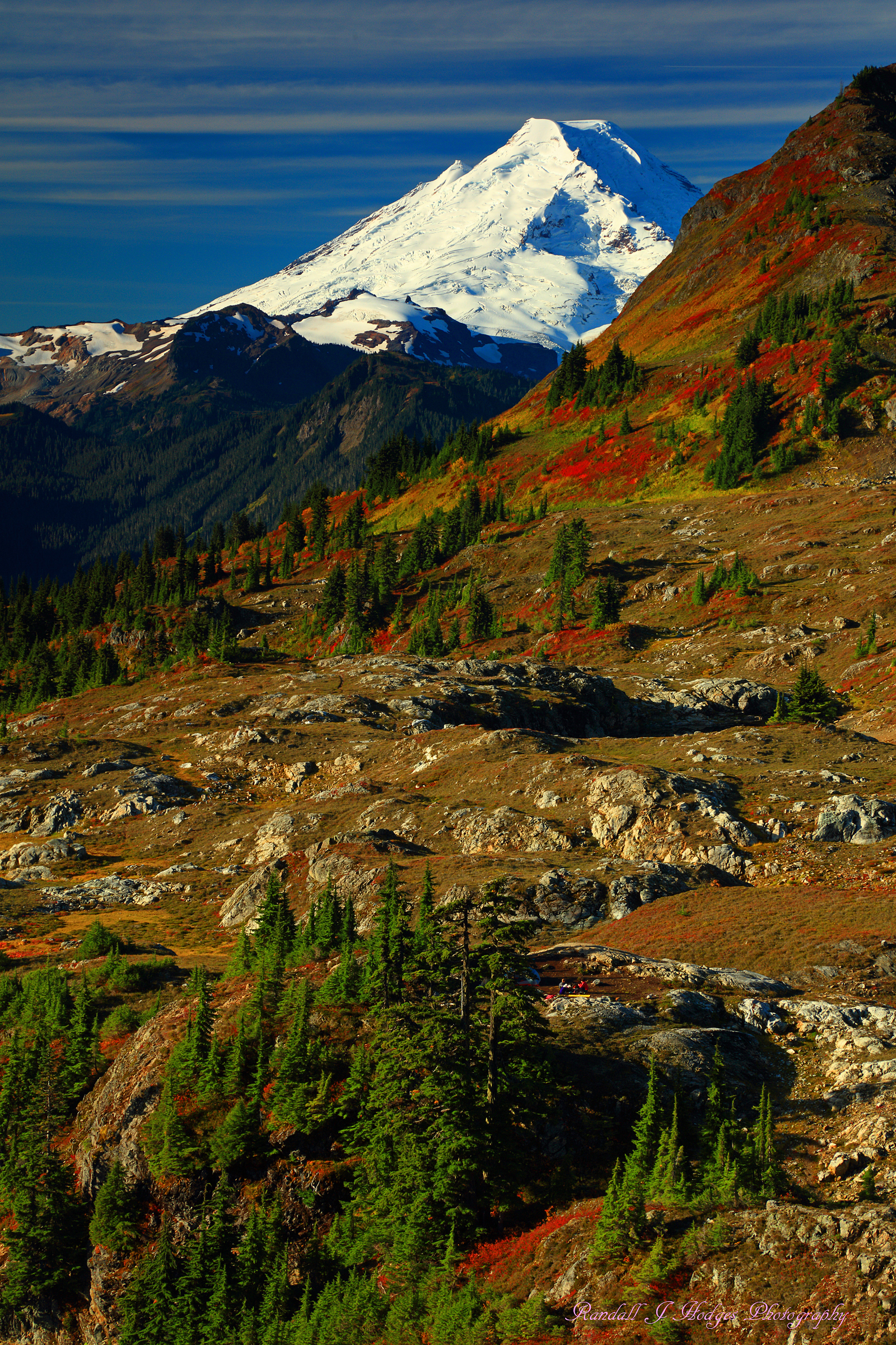 Fall Color and Mt Baker From Yellow Aster Butte in the Mt Baker Wilderness in Washington