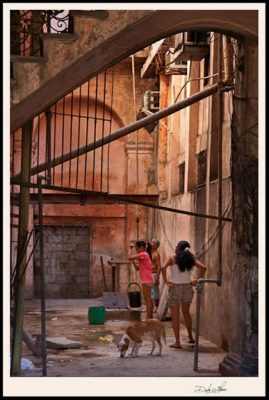 Photo of a Alley with Girls Playing