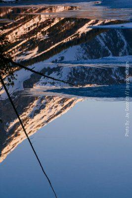 Reflection Lake Mountains Tetons Wyoming