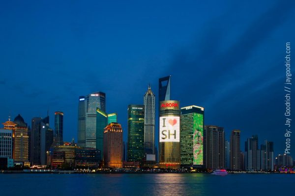 City Lights and Energy usage of Shanghai China